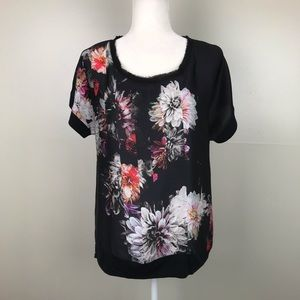 SIMPLY VERA Vera Wang Short Sleeve Silky Blouse